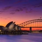 Picture of Sydney Harbour Bridge at sunset